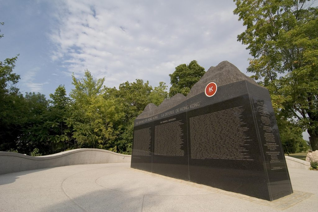 Battle of HongKong monument in Ottawa