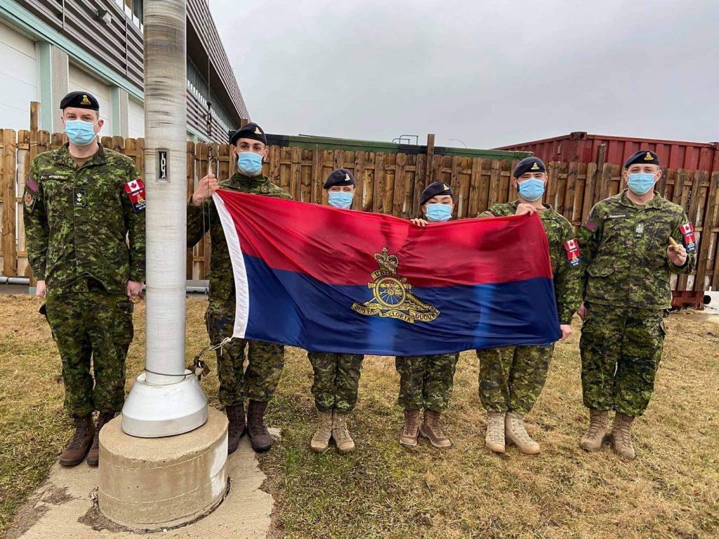 4 Regt (GS) UBIQUE 150 Flag Raise