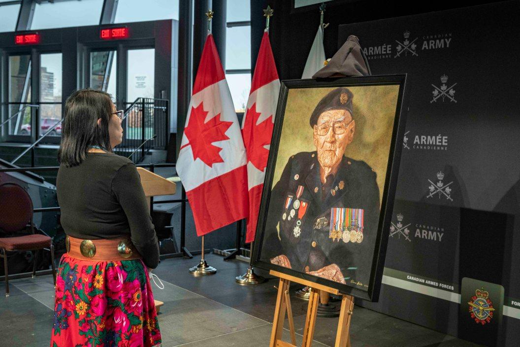 CAF unveiling portrait